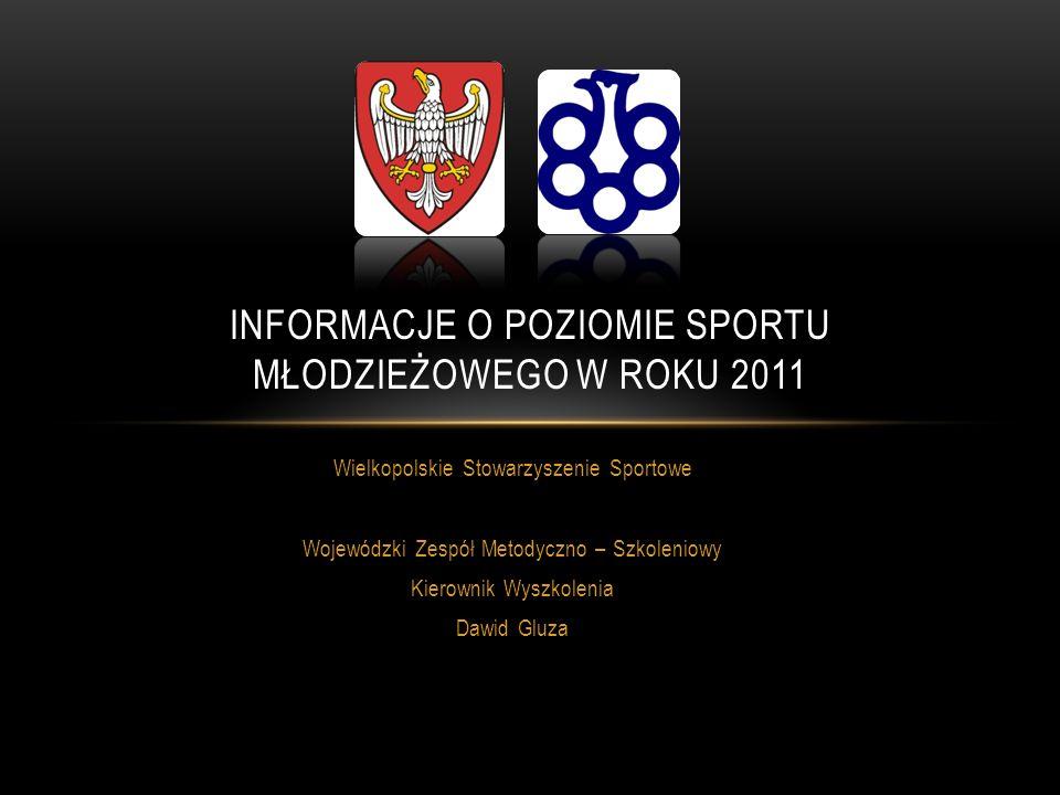 SPORTY WIELKOPOLSKI W ROKU 2011 POZIOM SPORTOWY DYSCYPLIN GRY ZESPOŁOWE TOP 10 WG KRYTERIUM PKT W SSM L.p.