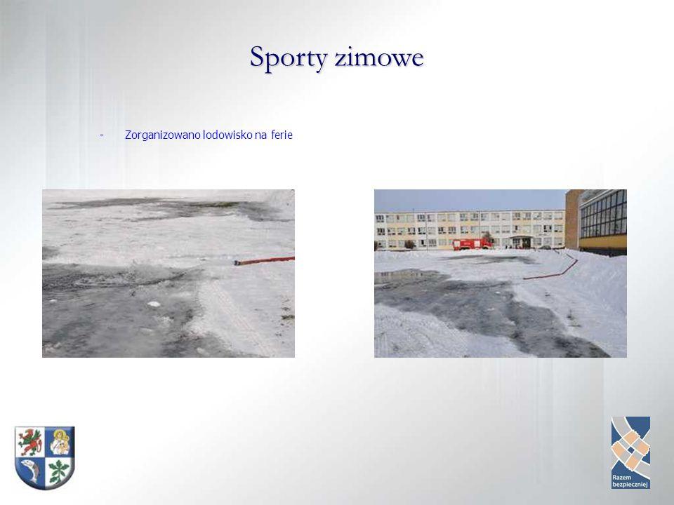 Sporty zimowe -Zorganizowano lodowisko na ferie