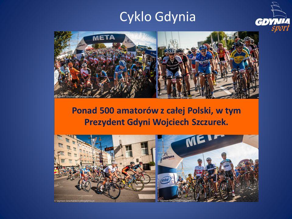 Cyklo Gdynia Ponad 500 amatorów z całej Polski, w tym Prezydent Gdyni Wojciech Szczurek.