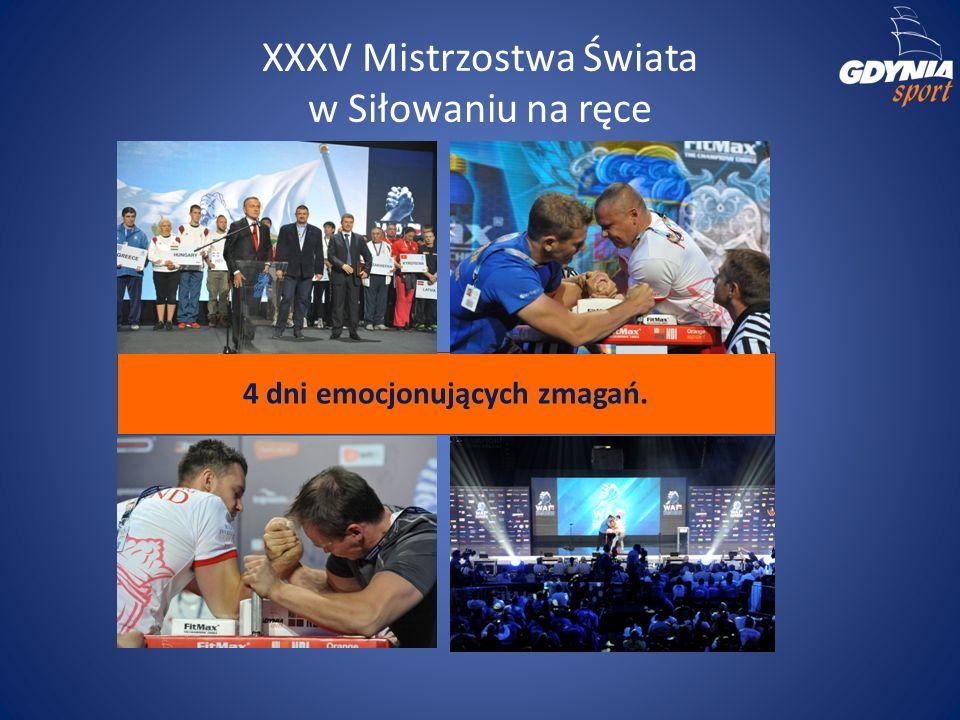 XXXV Mistrzostwa Świata w Siłowaniu na ręce 4 dni emocjonujących zmagań.