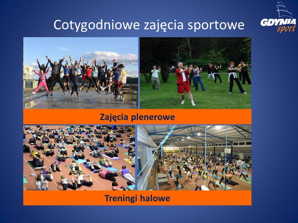 Cotygodniowe zajęcia sportowe Zajęcia plenerowe Treningi halowe