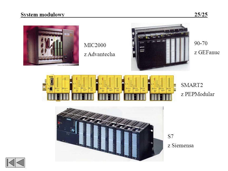 System modułowy 25/25 SMART2 z PEPModular S7 z Siemensa 90-70 z GEFanuc MIC2000 z Advantecha