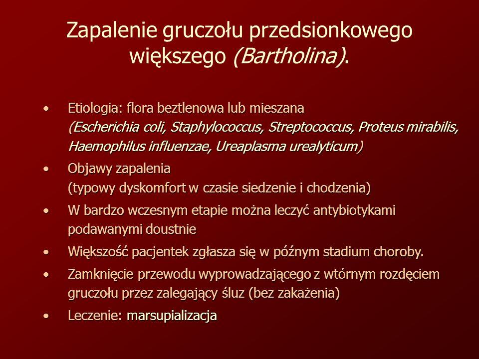 Zapalenie gruczołu przedsionkowego większego (Bartholina).