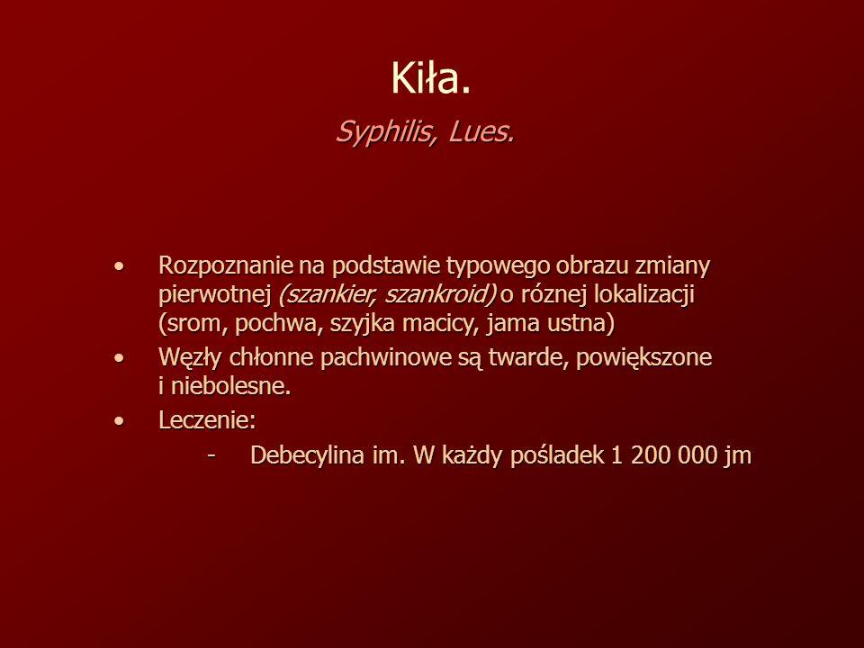 Kiła.Syphilis, Lues.