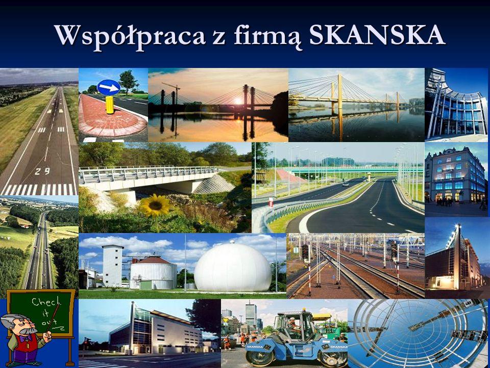 16www.budowlanka.tbg.net.pl Współpraca z firmą SKANSKA