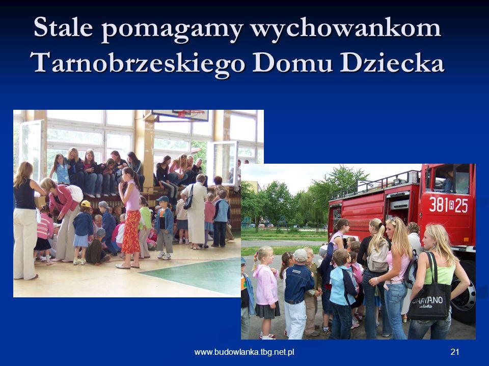 21www.budowlanka.tbg.net.pl Stale pomagamy wychowankom Tarnobrzeskiego Domu Dziecka