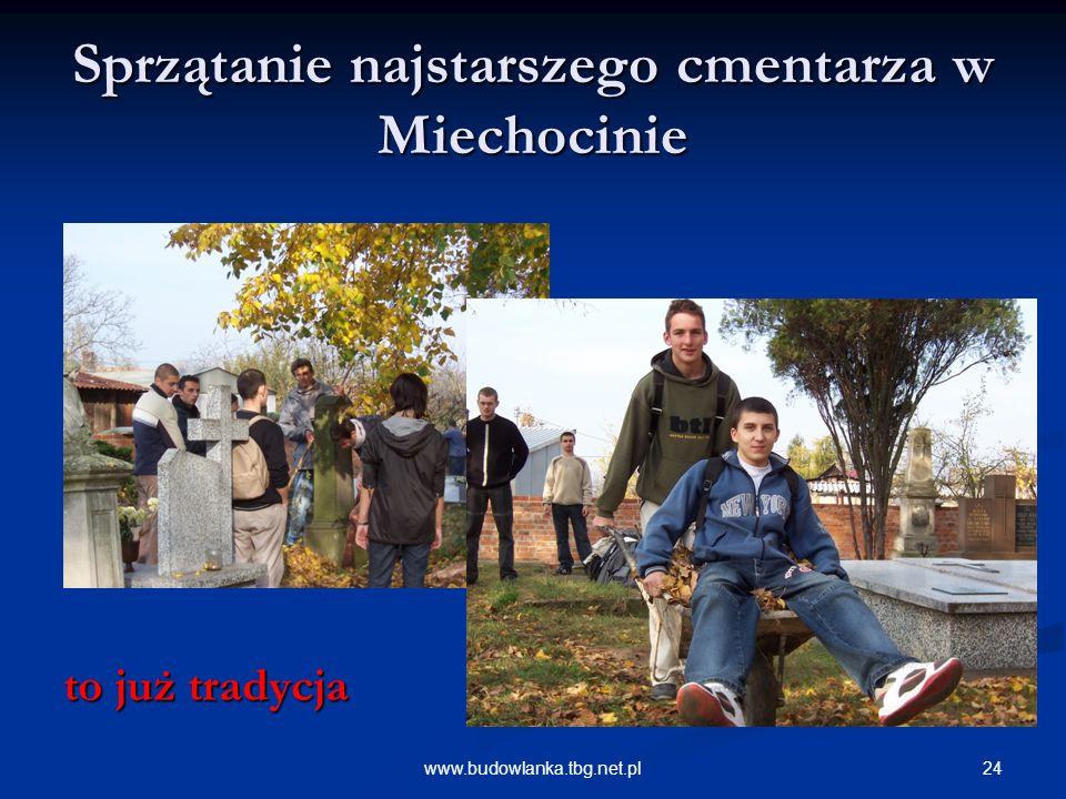 24www.budowlanka.tbg.net.pl Sprzątanie najstarszego cmentarza w Miechocinie to już tradycja