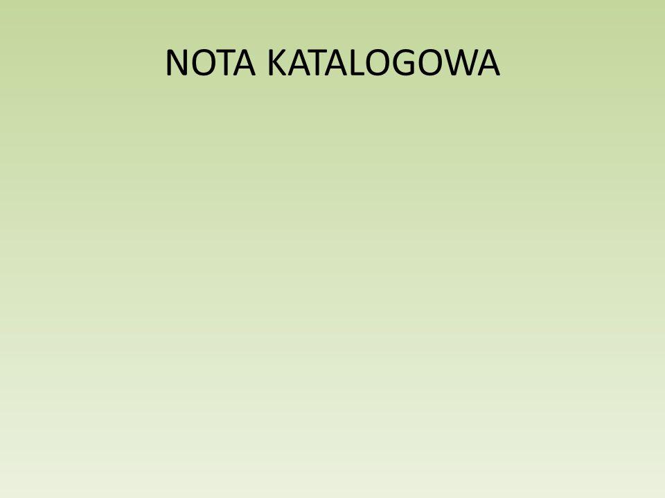 NOTA KATALOGOWA