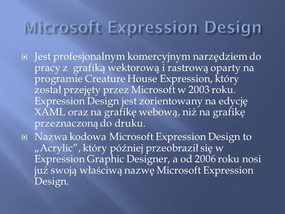 Jest profesjonalnym komercyjnym narzędziem do pracy z grafiką wektorową i rastrową oparty na programie Creature House Expression, który został przejęt