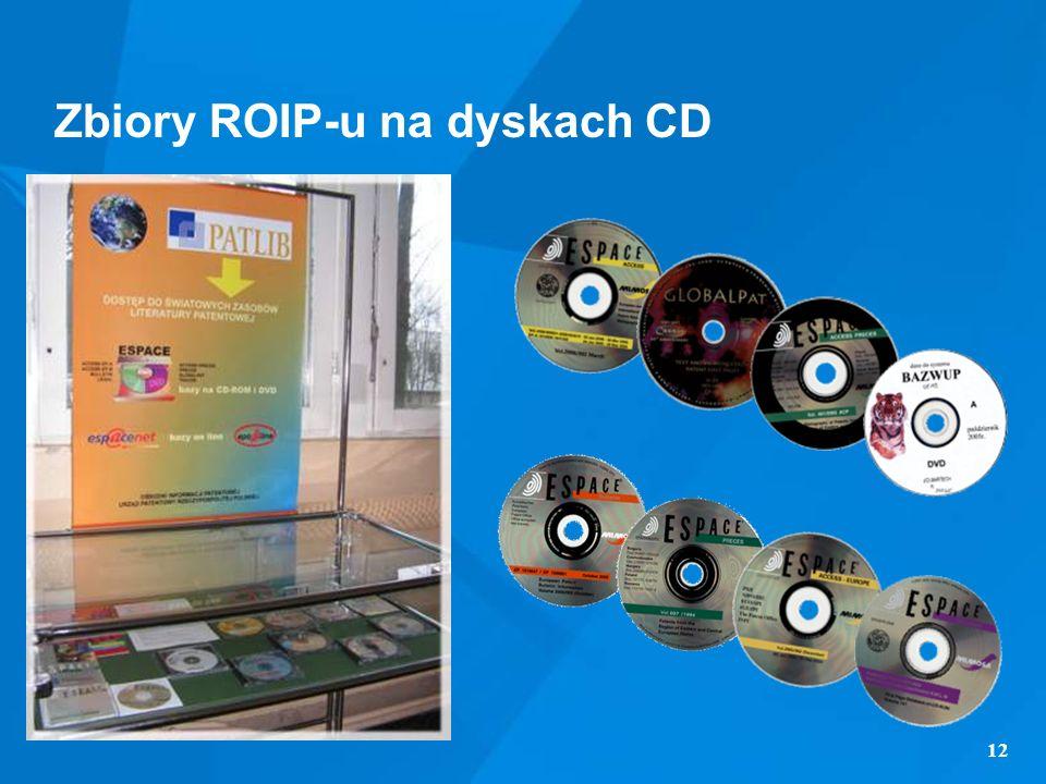 12 Zbiory ROIP-u na dyskach CD