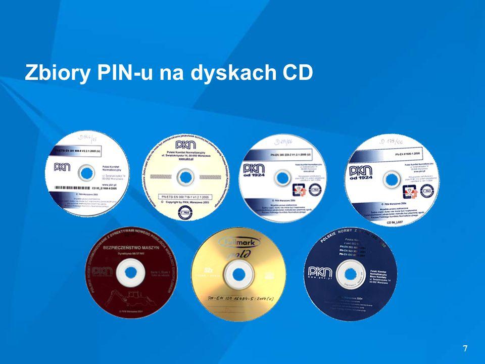 7 Zbiory PIN-u na dyskach CD