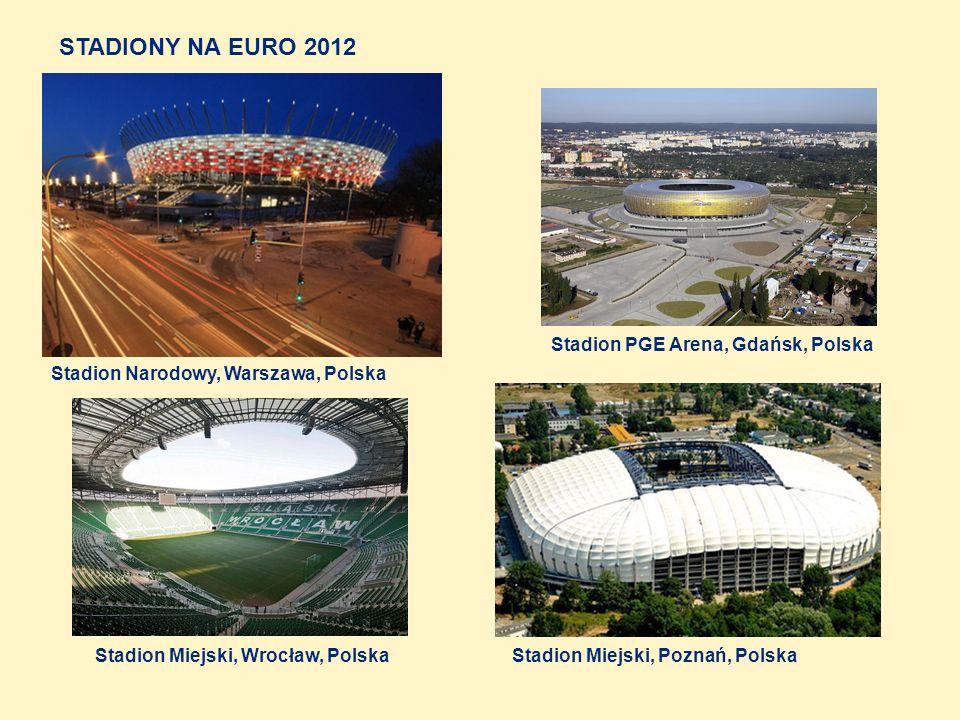 Stadion Olimpijski, Kijów, Ukraina Donbas Arena, Donieck, Ukraina Stadion Arena, Lwów, Ukraina Stadion Metalist, Charków, Ukraina