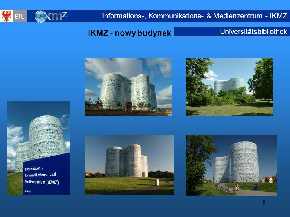 6 Universitätsbibliothek IKMZ - nowy budynek IKMZ Neubau Informations-, Kommunikations- & Medienzentrum - IKMZ