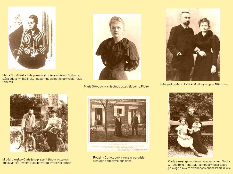 Maria Skłodowska była pierwszą kobietą w historii Sorbony, która zdała (w 1891 roku) egzaminy wstępne na wydział fizyki i chemii Maria Skłodowska nied