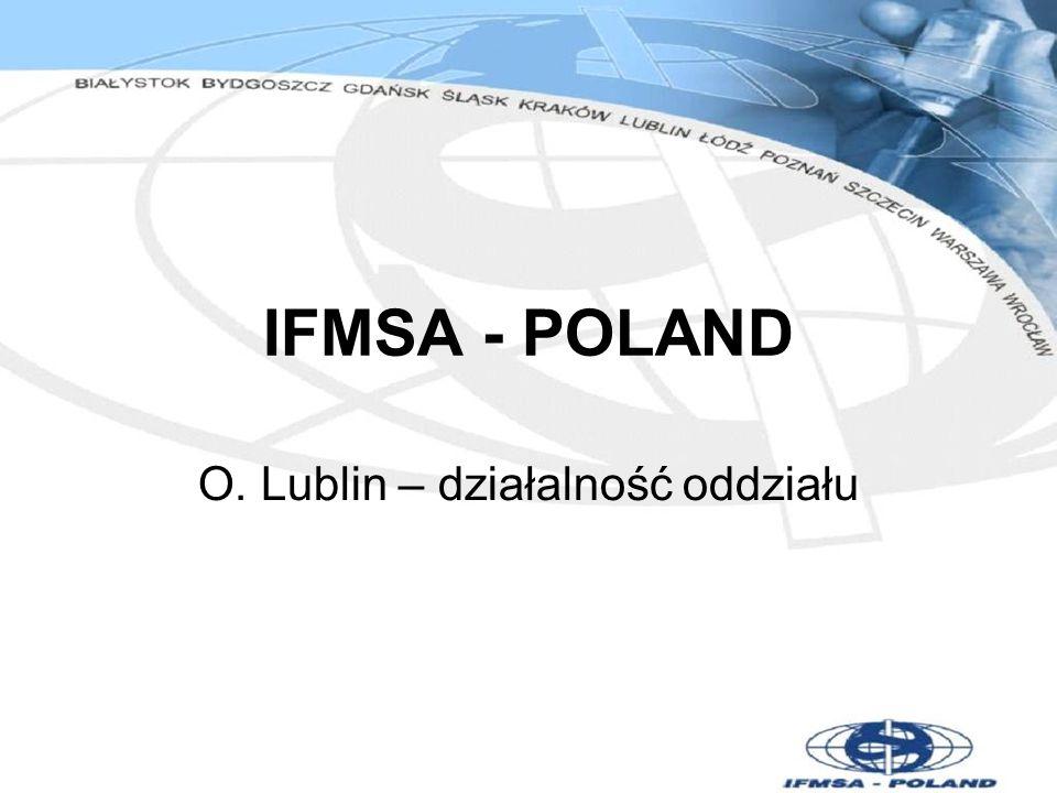 IFMSA - POLAND O. Lublin – działalność oddziału