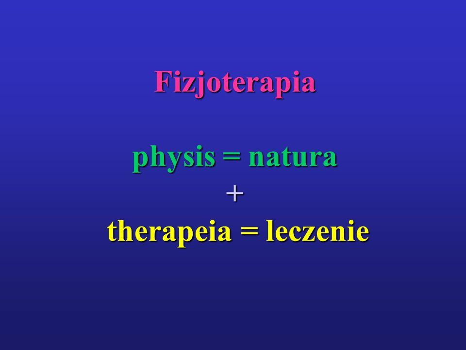 Fizjoterapia physis = natura + therapeia = leczenie