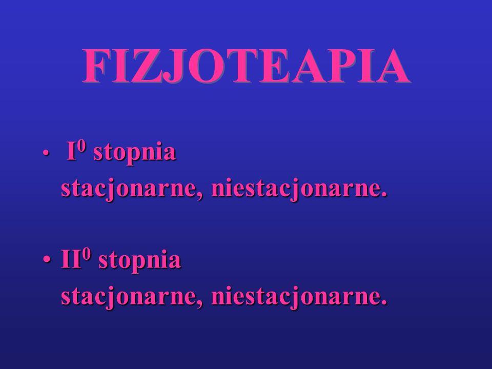 FIZJOTEAPIA I 0 stopnia I 0 stopnia stacjonarne, niestacjonarne. II 0 stopniaII 0 stopnia stacjonarne, niestacjonarne.