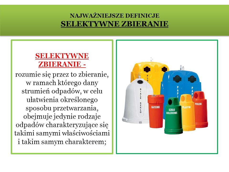 Segregacja odpadów Segregacja odpadów polega na podziale śmieci według materiału z jakiego są wykonane, np.