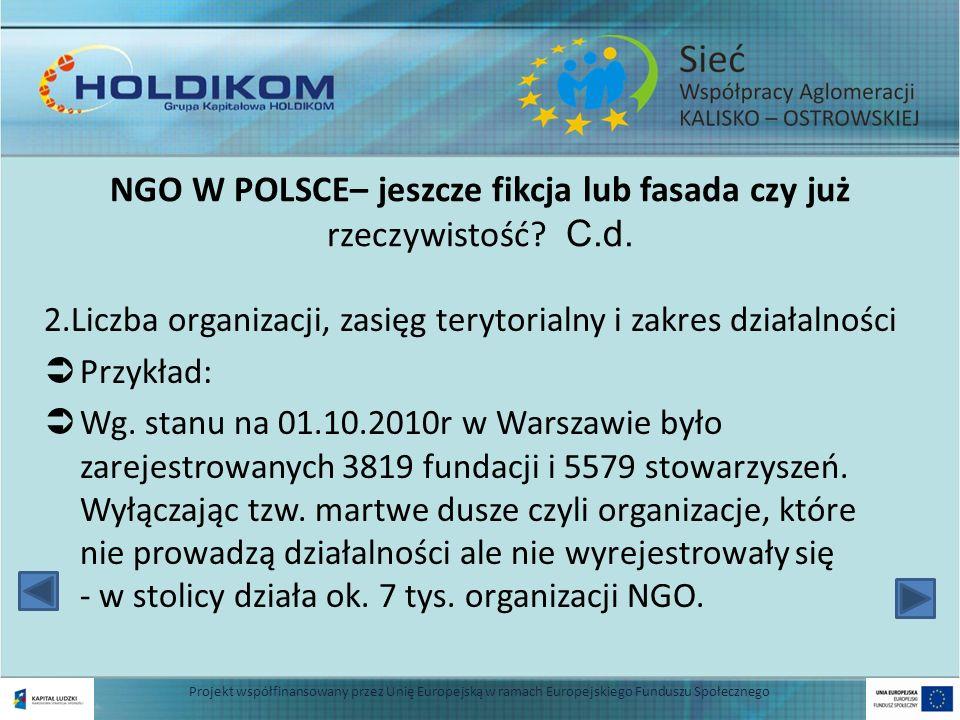 7 NGO W POLSCE– jeszcze fikcja lub fasada czy już rzeczywistość.
