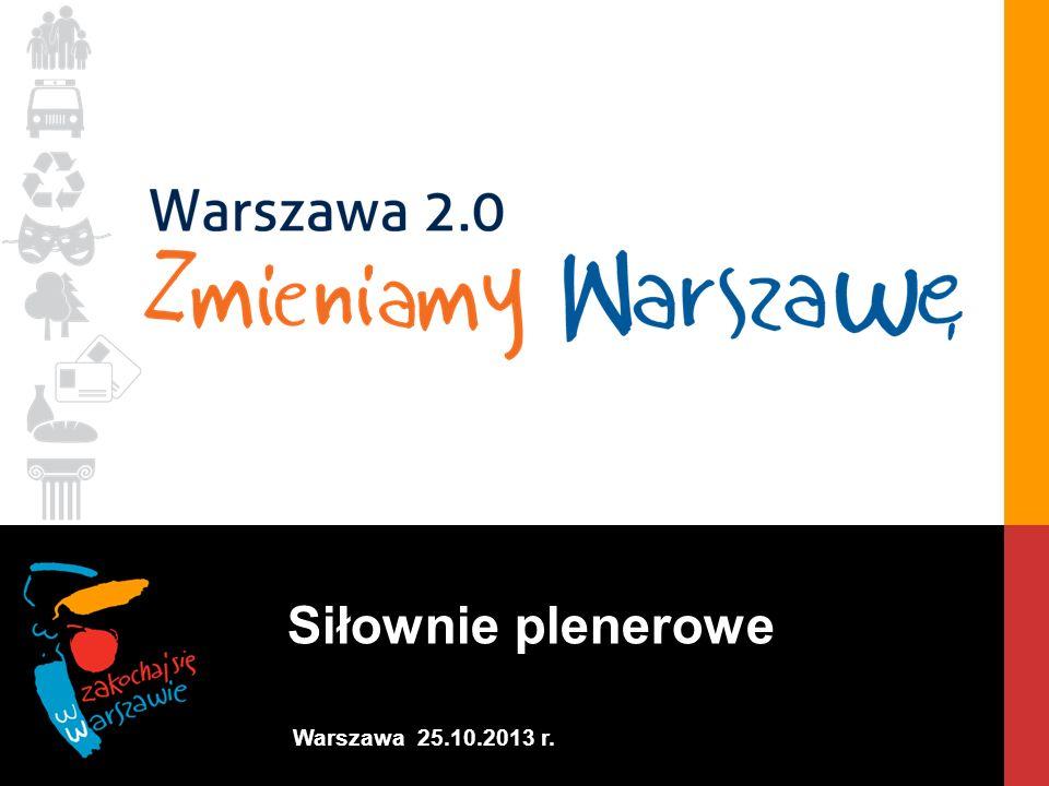 Siłownie plenerowe Warszawa 25.10.2013 r.