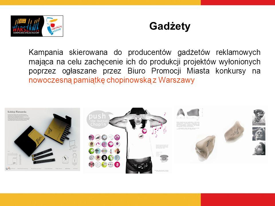 Kampania skierowana do producentów gadżetów reklamowych mająca na celu zachęcenie ich do produkcji projektów wyłonionych poprzez ogłaszane przez Biuro