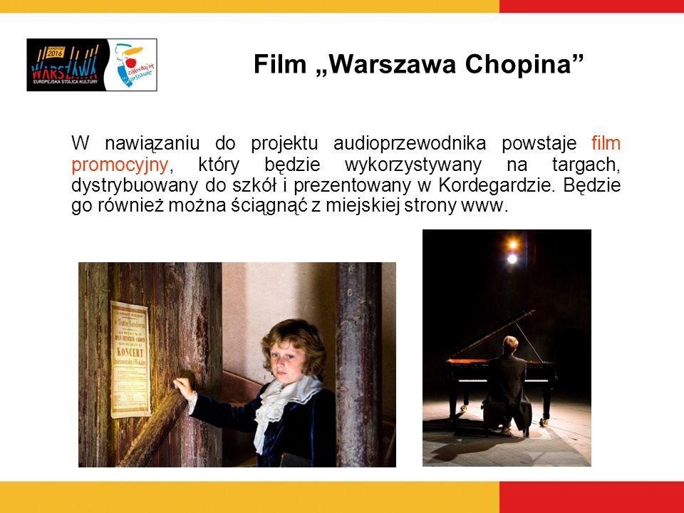 W nawiązaniu do projektu audioprzewodnika powstaje film promocyjny, który będzie wykorzystywany na targach, dystrybuowany do szkół i prezentowany w Ko