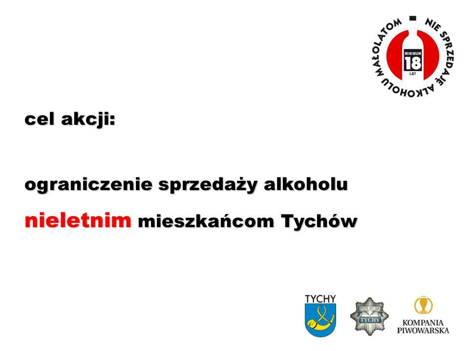 cel akcji: ograniczenie sprzedaży alkoholu nieletnim mieszkańcom Tychów