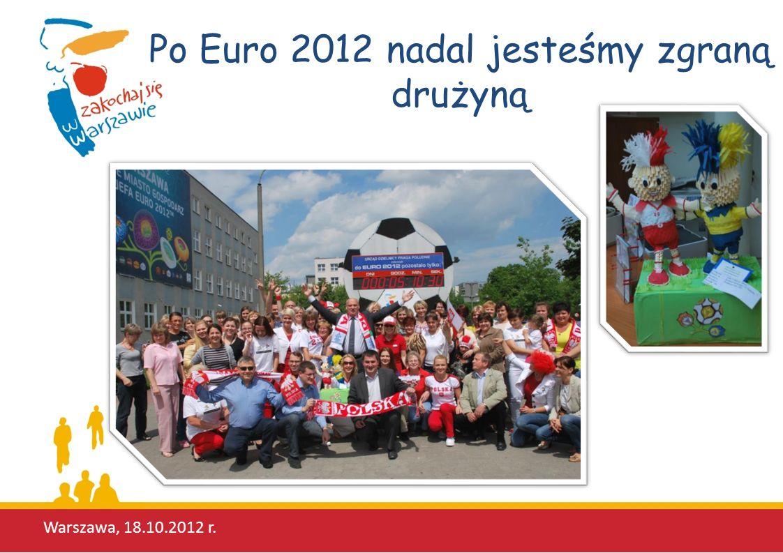 Po Euro 2012 nadal jesteśmy zgraną drużyną Warszawa, 18.10.2012 r.