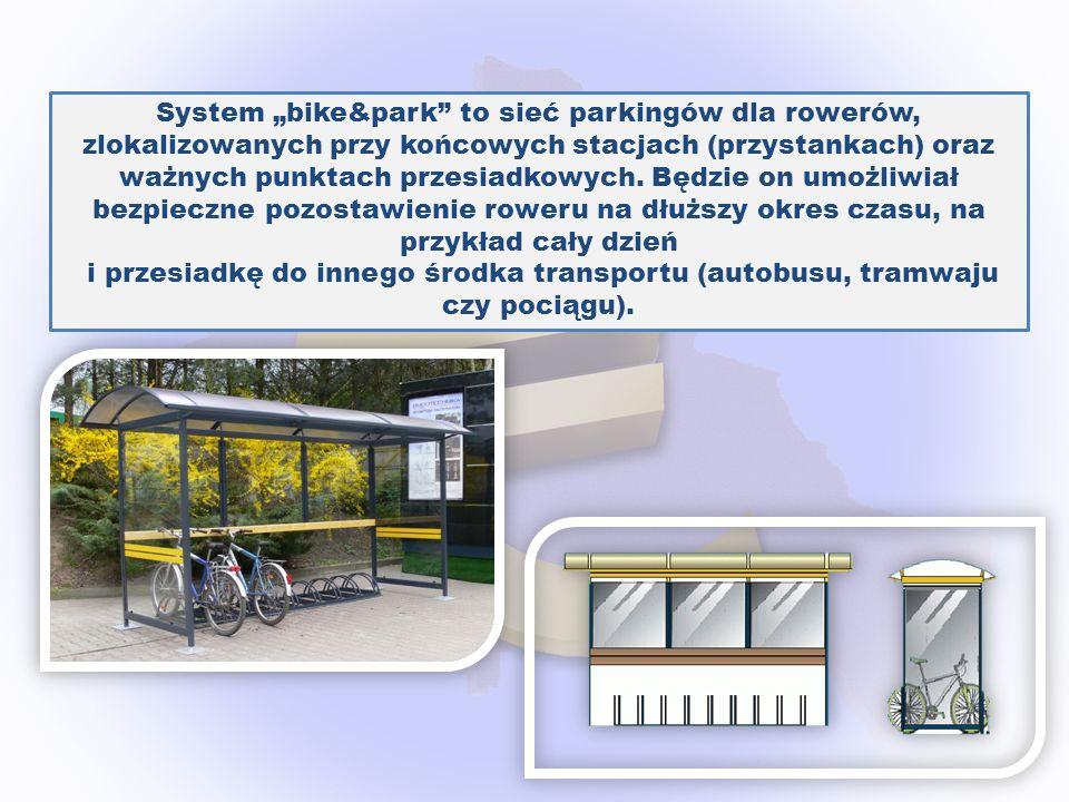 System bike&park to sieć parkingów dla rowerów, zlokalizowanych przy końcowych stacjach (przystankach) oraz ważnych punktach przesiadkowych. Będzie on