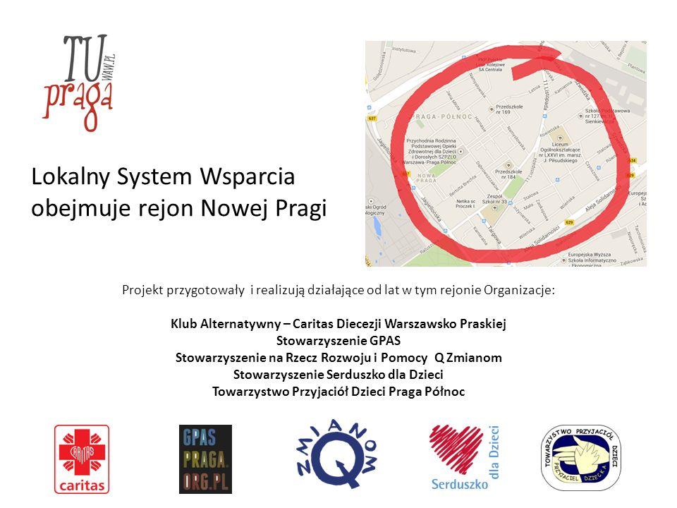 Lokalny System Wsparcia obejmuje rejon Nowej Pragi Projekt przygotowały i realizują działające od lat w tym rejonie Organizacje: Klub Alternatywny – C