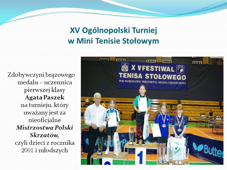 Patrycja Paszek - tenis stołowy Patrycja na Mistrzostwach Śląska w generalnej klasyfikacji zdobyła 2 złote medale w kategorii kadetek i juniorek oraz
