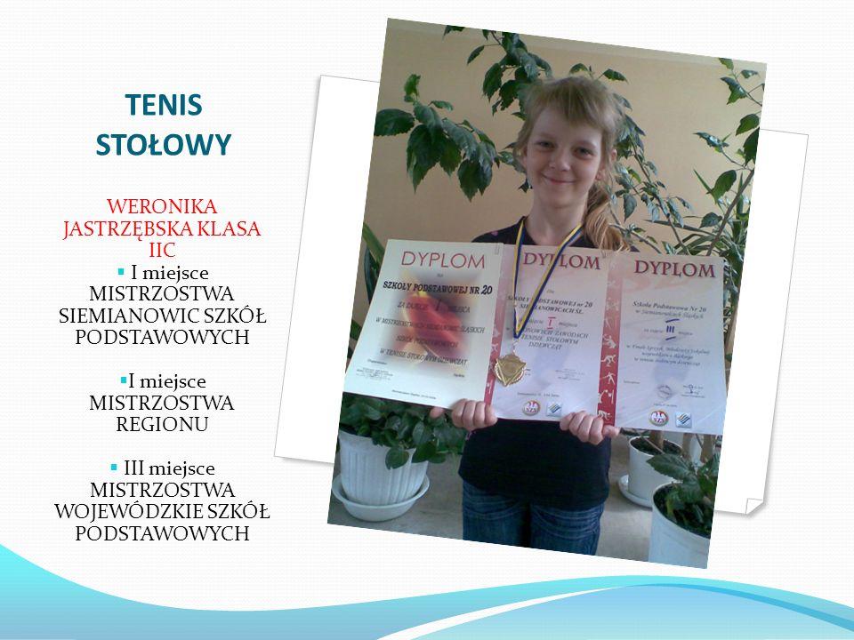 XV Ogólnopolski Turniej w Mini Tenisie Stołowym Zdobywczyni brązowego medalu – uczennica pierwszej klasy Agata Paszek na turnieju, który uważany jest