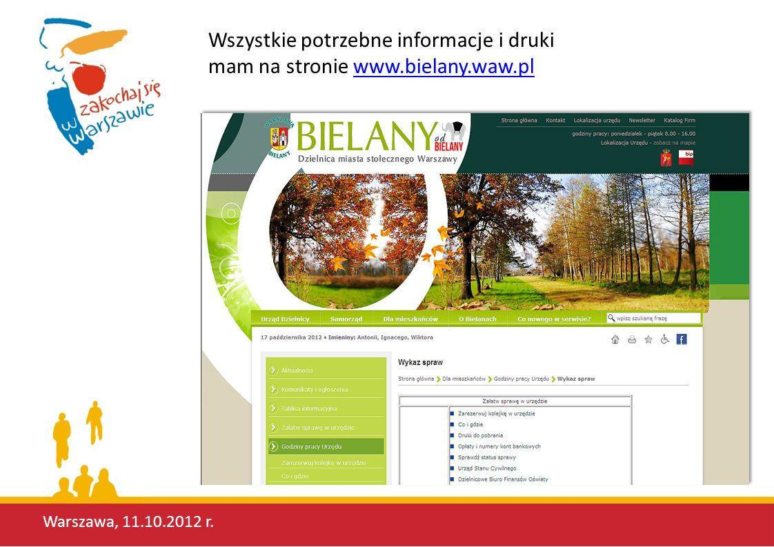 Warszawa, 11.10.2012 r. O! Wirtualny Urząd! Mogę zobaczyć, jak można poruszać się w środku!