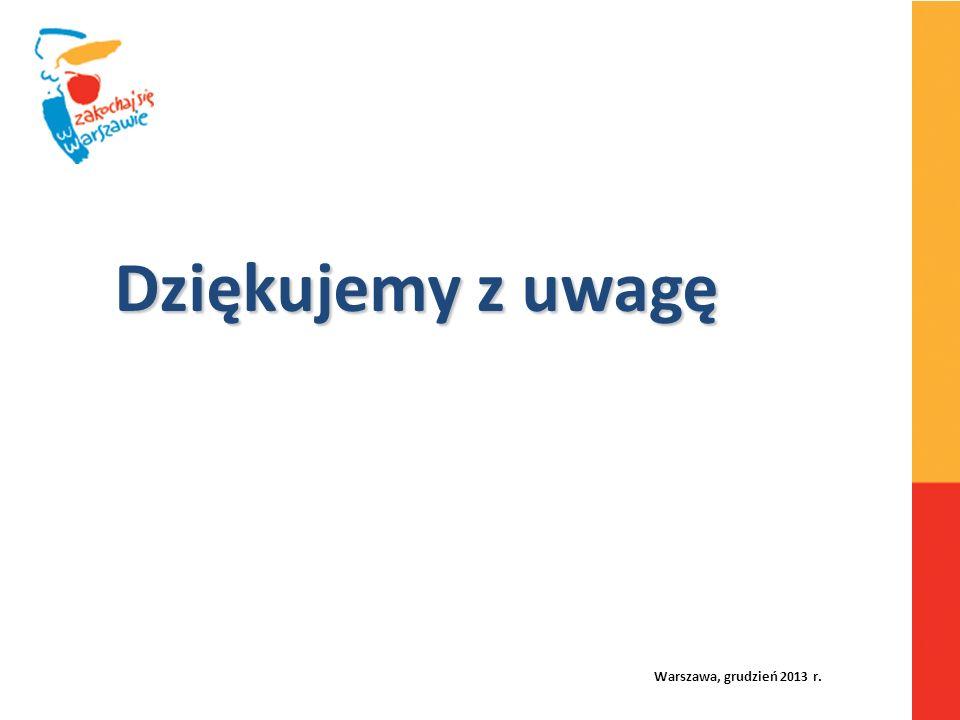 Warszawa, grudzień 2013 r. Dziękujemy z uwagę