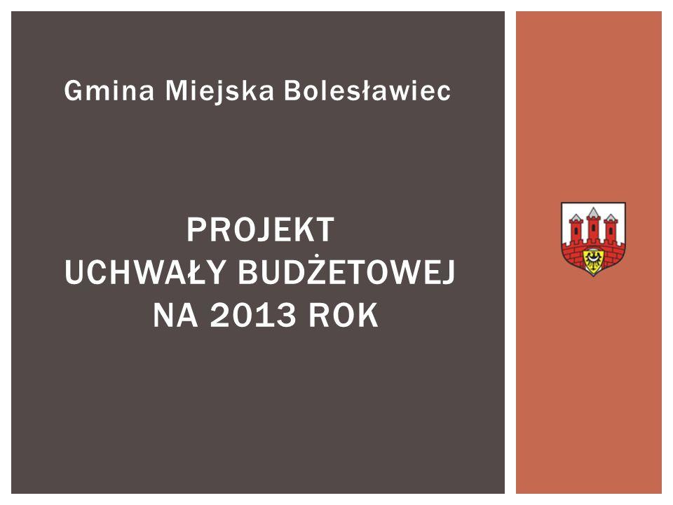 Przedłożony przez Prezydenta Miasta Bolesławiec budżet na 2013 r.