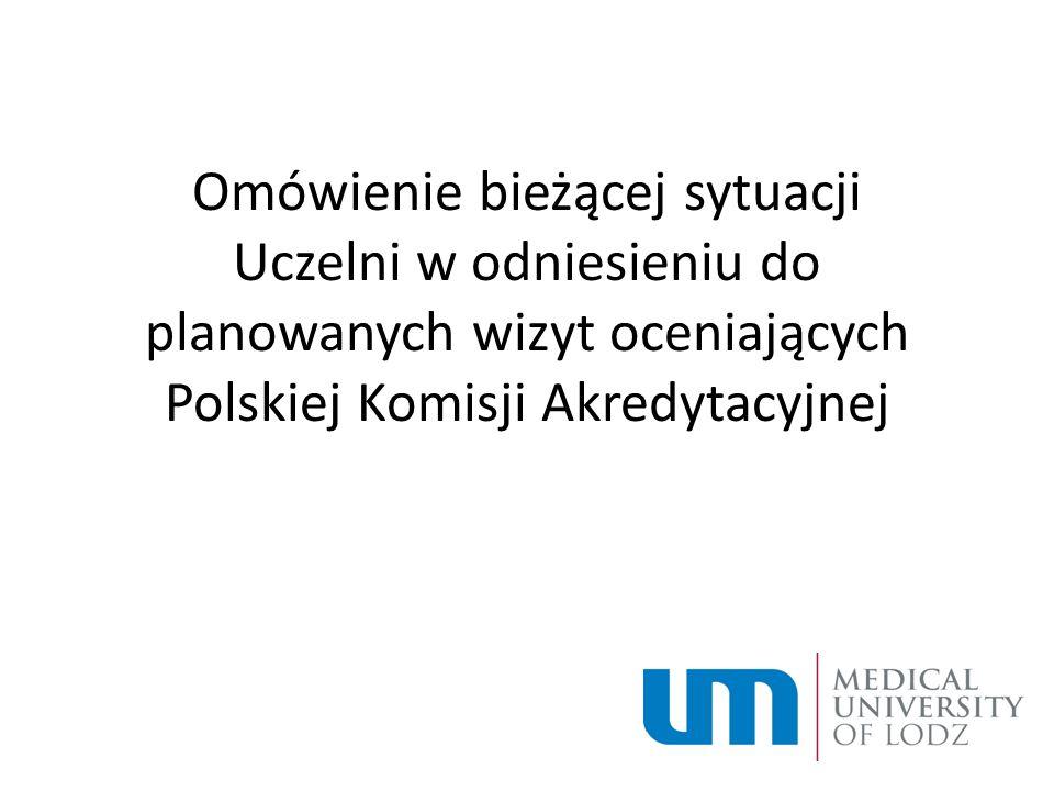 Omówienie bieżącej sytuacji Uczelni w odniesieniu do planowanych wizyt oceniających Polskiej Komisji Akredytacyjnej