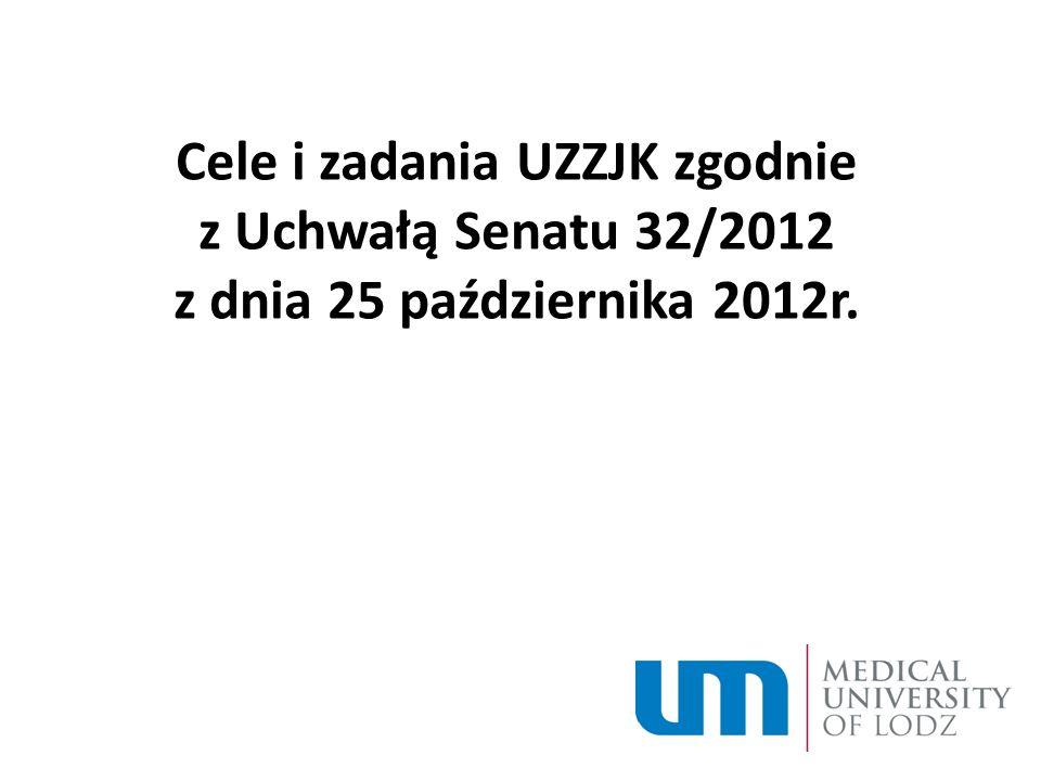 Cele i zadania UZZJK zgodnie z Uchwałą Senatu 32/2012 z dnia 25 października 2012r.