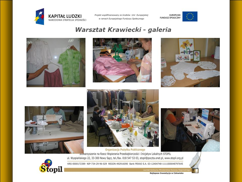 Warsztat Krawiecki - galeria
