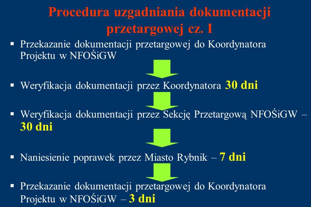 Przetarg na wybór Inżyniera Kontraktu cz. II 7 maja 2003 r.