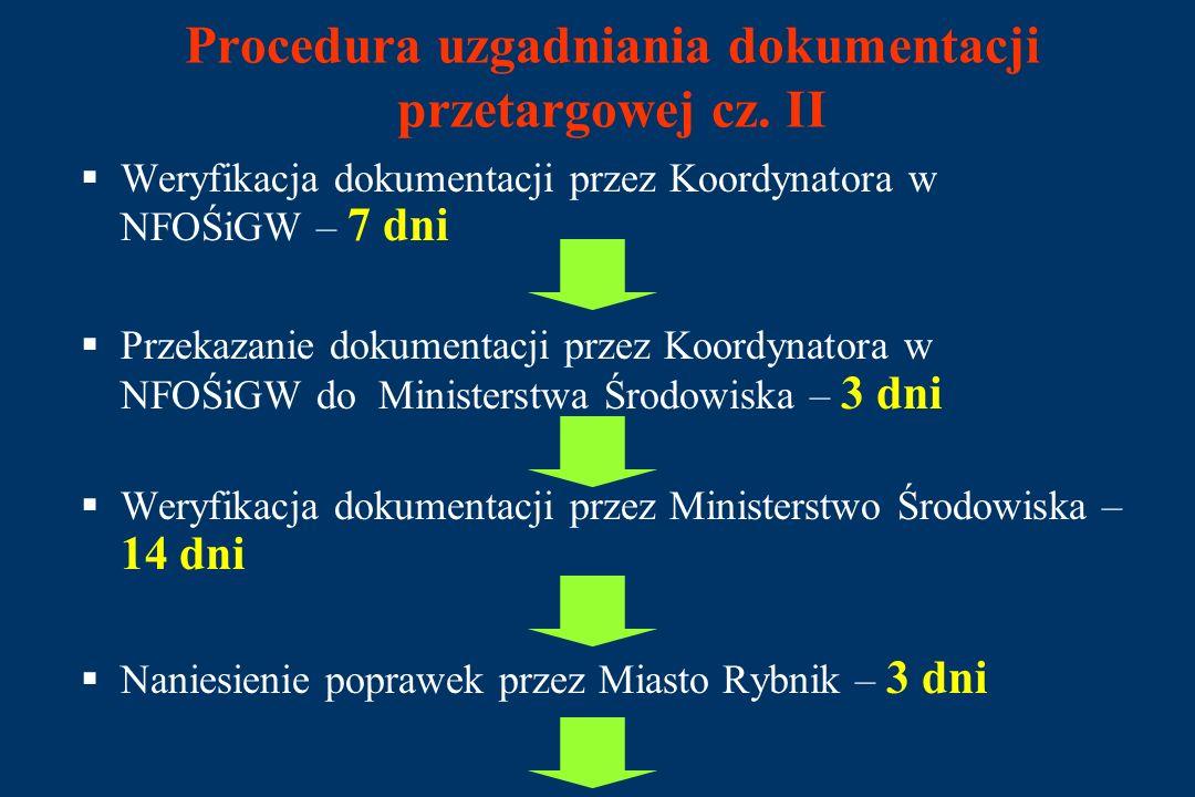 Procedura uzgadniania dokumentacji przetargowej cz.