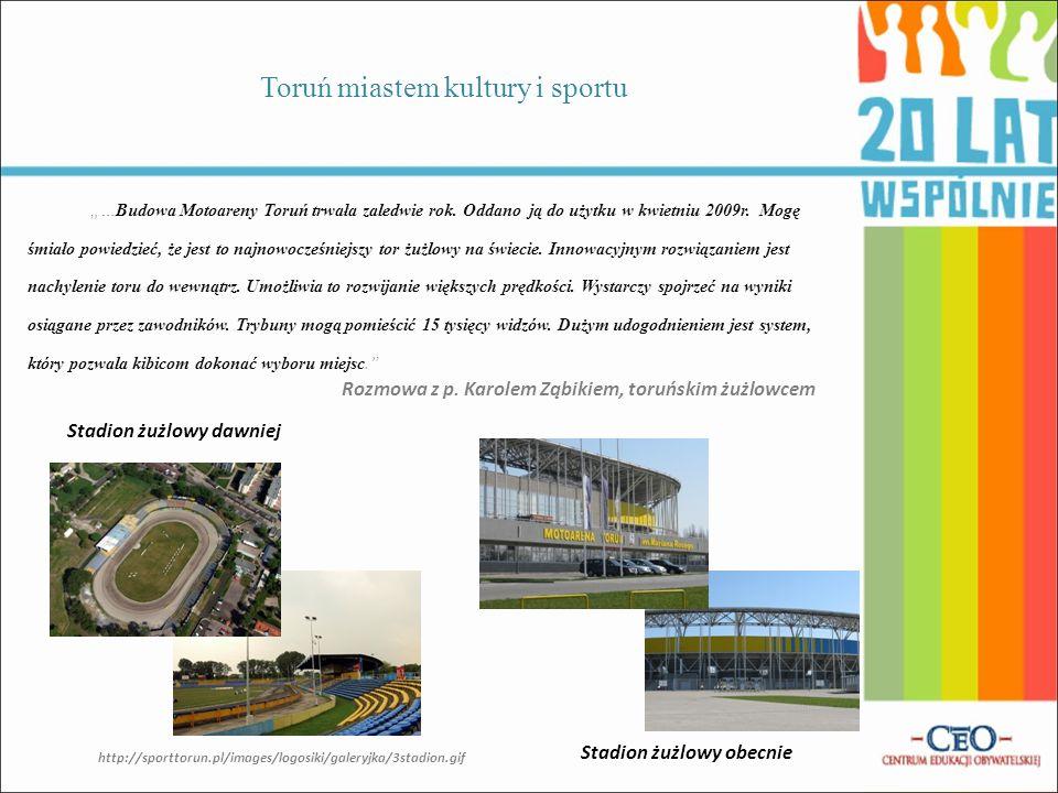 Toruń miastem kultury i sportu Teatr Baj Pomorski po remoncieTeatr Baj Pomorski dawniej Wywiad z p.