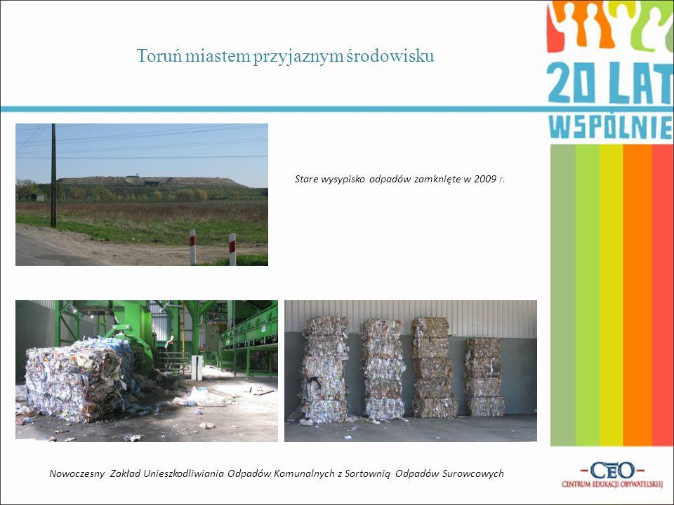 Toruń miastem przyjaznym środowisku Nowoczesna Miejska Oczyszczalnia Ścieków powstała w 1998 r. Monitorowanie stopnia zanieczyszczenia środowiska