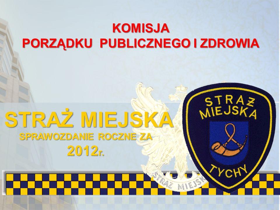 KOMISJA PORZĄDKU PUBLICZNEGO I ZDROWIA STRAŻ MIEJSKA SPRAWOZDANIE ROCZNE ZA 2012 r.