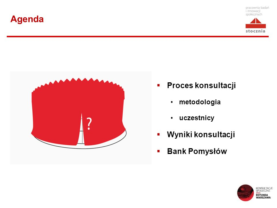 Wyniki konsultacji: oczekiwania wobec nowej Rotundy Wizytówka Warszawy: inspiracja architektoniczna, urbanistyczna, miejsce przyciągające szeroką publiczność, skłaniające do zmiany myślenia o przestrzeni publicznej Miejsce spotkań, które zatrzymuje (na chwilę), a nie tylko przesyła Miejsce integrujące różne grupy społeczne Miejsce dające wytchnienie, pozwalające usiąść, odetchnąć, zapewniające intymność, a nie tylko pęd, wielkomiejskość Miejsce unikalne Miejsce uporządkowane, reprezentacyjne, estetyczne, bez wielkoformatowych reklam Miejsce bezpieczne (monitorowane, bez włóczęgów, pijaństwa, dilerów)