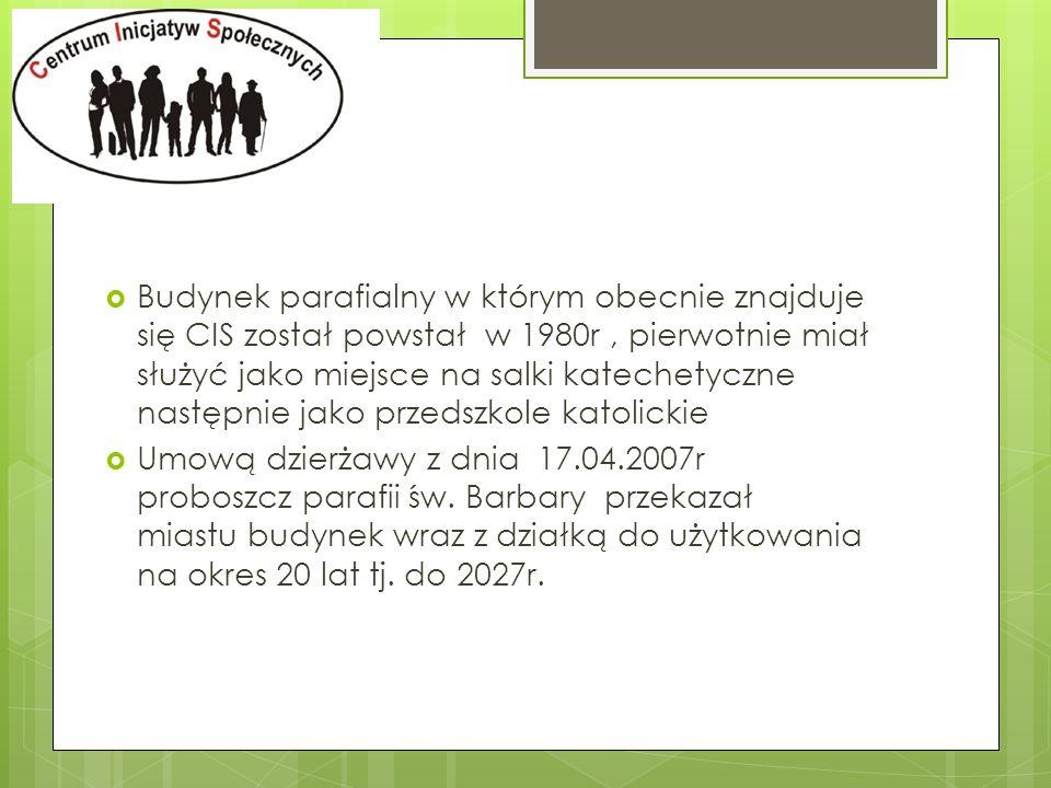 Etap aplikacji Miasta Chorzów o dofinansowanie ze środków Europejskiego Funduszu Rozwoju Regionalnego w ramach RPOWŚ na lata 2007-2013 na adaptację budynku wnioskowane dofinansowanie - 1,6 mln wkład własny + wyposażenie CIS - 360 tyś