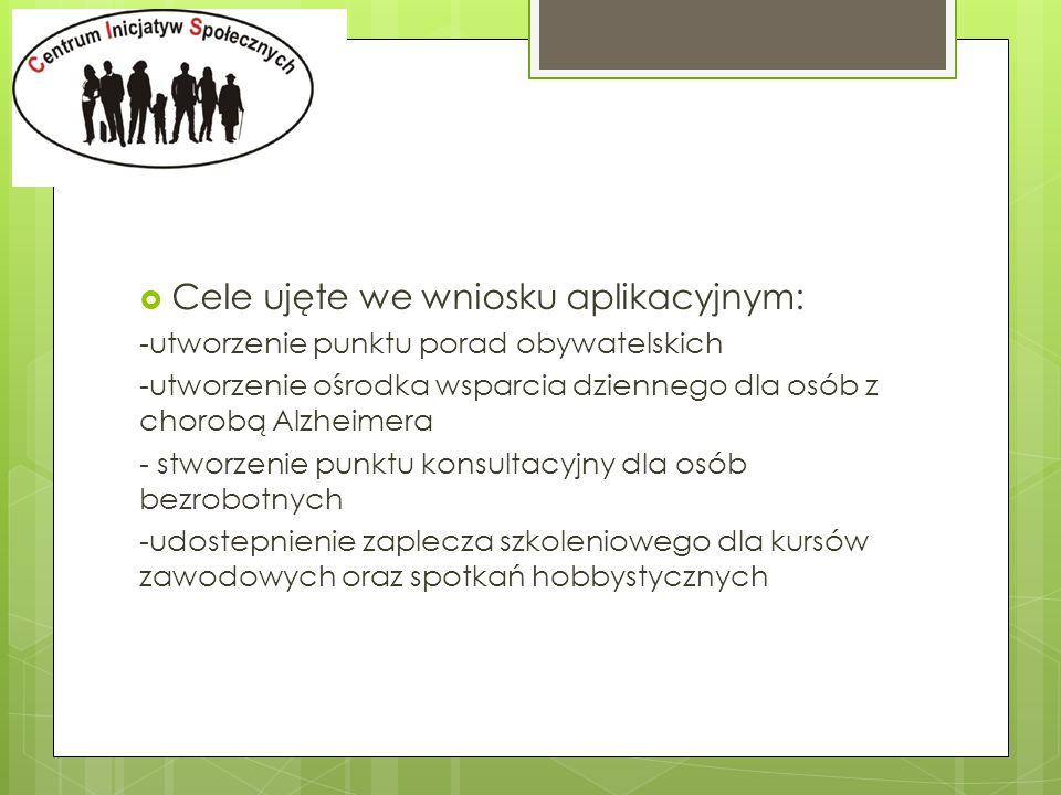 -otwarcie obiektu 20 grudzień 2010r - pierwsze formy aktywizacji wprowadzono w styczniu 2011r