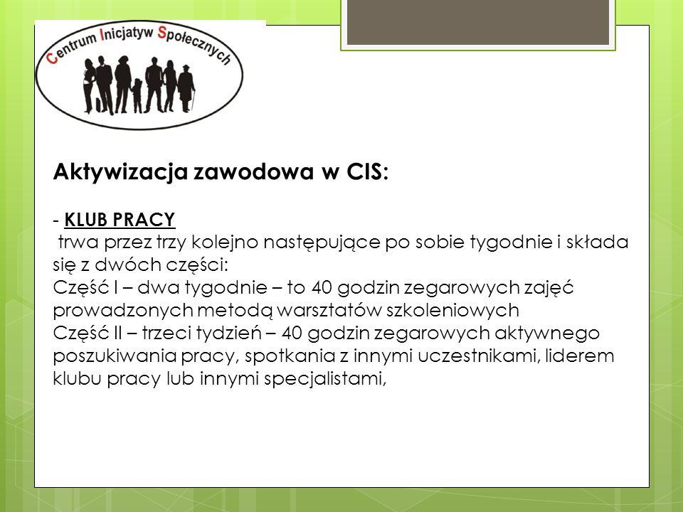-Poradnictwo grupowe -forma warsztatowa -zajęcia w grupach liczących do 16 osób, przez okres 2-3 dni.