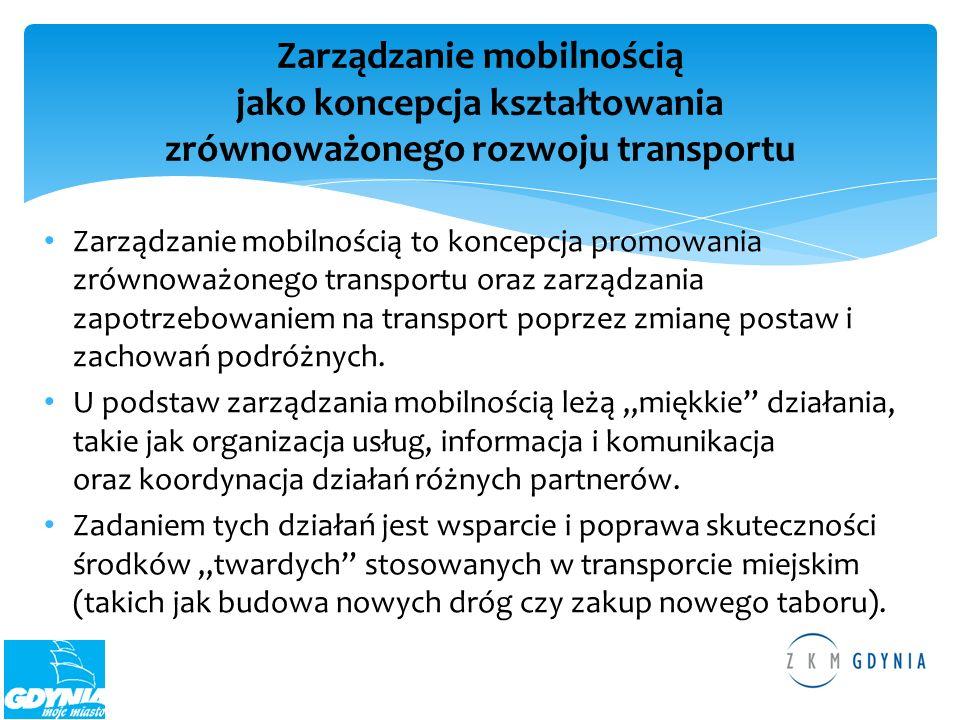 Zarządzanie mobilnością to koncepcja promowania zrównoważonego transportu oraz zarządzania zapotrzebowaniem na transport poprzez zmianę postaw i zacho
