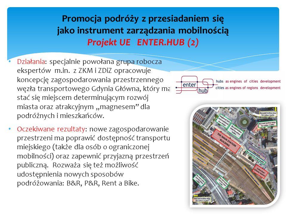 Działania: specjalnie powołana grupa robocza ekspertów m.in. z ZKM i ZDiZ opracowuje koncepcję zagospodarowania przestrzennego węzła transportowego Gd