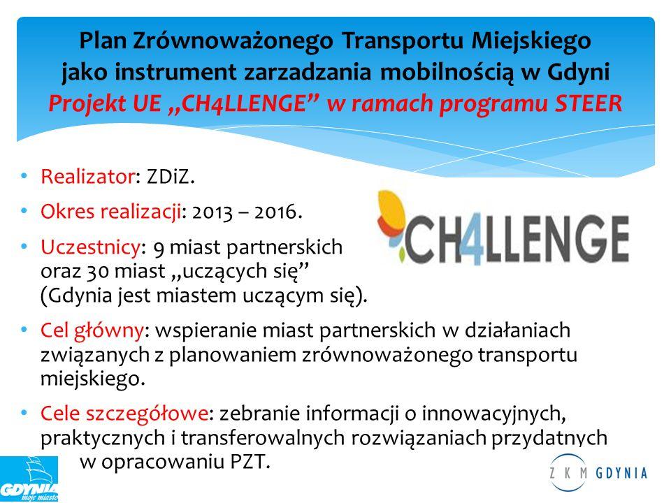 Realizator: ZDiZ. Okres realizacji: 2013 – 2016. Uczestnicy: 9 miast partnerskich oraz 30 miast uczących się (Gdynia jest miastem uczącym się). Cel gł